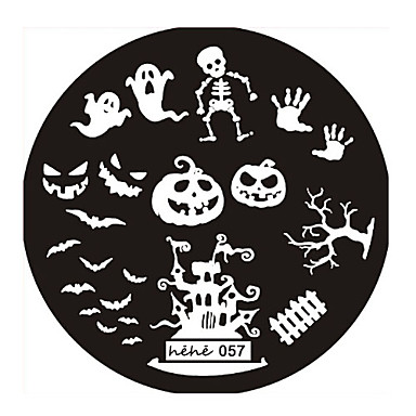 1 pcs damgalama Plaka şablon Sevimli Soyut / Punk / Düğün Günlük / Metal