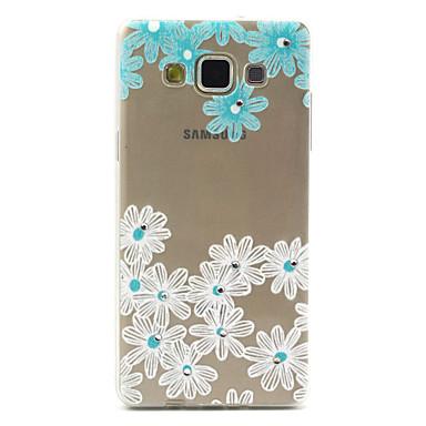Voor Samsung Galaxy hoesje Strass / Transparant / Patroon hoesje Achterkantje hoesje Bloem TPU Samsung A5