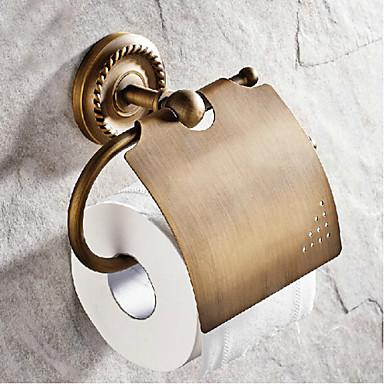 Toiletrolhouder / Antiek Koper Antiek