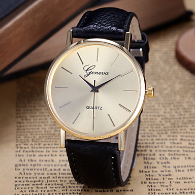 Mulheres Relógio de Moda Quartzo Venda imperdível PU Banda Amuleto Preta Branco