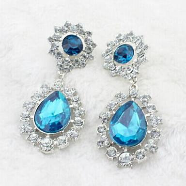Γυναικεία Κρεμαστά Σκουλαρίκια Κρύσταλλο Στρας Κράμα Κοσμήματα Πάρτι Καθημερινά