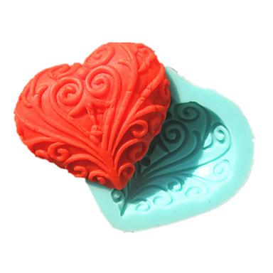 kant hart-vormige zeep mal fondant taart mallen chocolade mal voor de keuken bakken suiker taart decoratie hulpmiddel