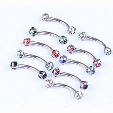 Cristal Piercing Labial Bijuterias para Labios - Mulheres Bijuteria de Corpo Para Presentes de Natal Festa Diário Casual