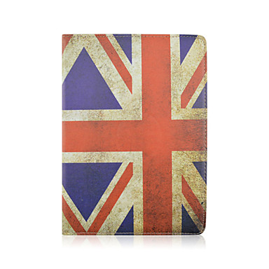 hoesje Voor iPad Air 2 met standaard Origami 360° rotatie Volledig hoesje Vlag PU-nahka voor iPad Air 2