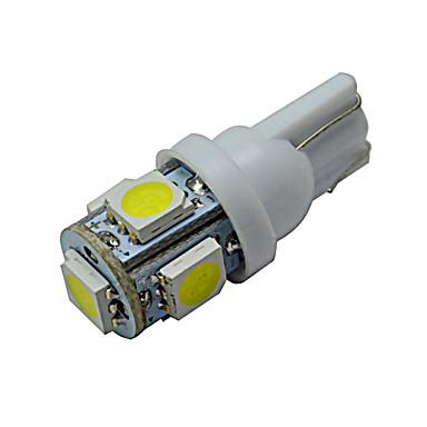 t10 luz de decoração 5 smd 5050 70-90lm branco frio 6000-6500k dc 12v