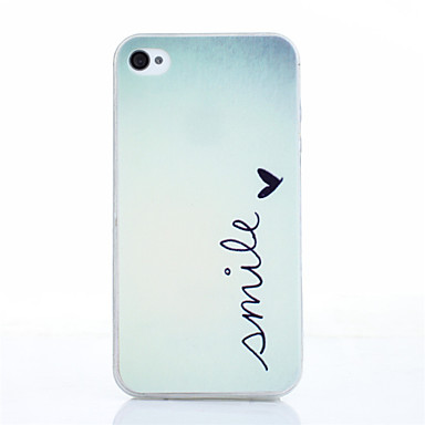 smile butterly pattern tpu soft cover voor iphone 4 / 4s iphone hoesjes