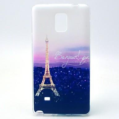 hoesje Voor Samsung Galaxy Samsung Galaxy Note Patroon Achterkant Eiffeltoren TPU voor Note 4
