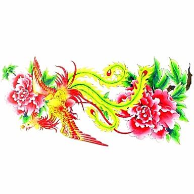1 Χαμηλά στην Πλάτη Waterproof Σειρά Λουλουδιών Αυτοκόλλητα Τατουάζ