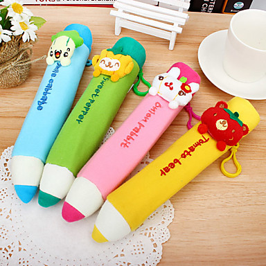 Textile Pencil Shaped Pen Bag(Random Color)