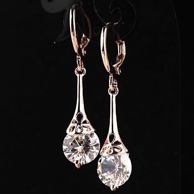 Σκουλαρίκι Κρίκοι Κοσμήματα 2pcs Γάμου / Πάρτι / Καθημερινά / Causal Κράμα / Ζιρκονίτης Γυναικεία Χρυσαφί / Διάφανο