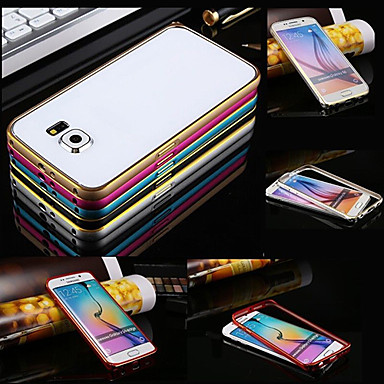 Para Samsung Galaxy Capinhas Antichoque Capinha Protetora de Quinas Capinha Cor Única Metal Samsung S6