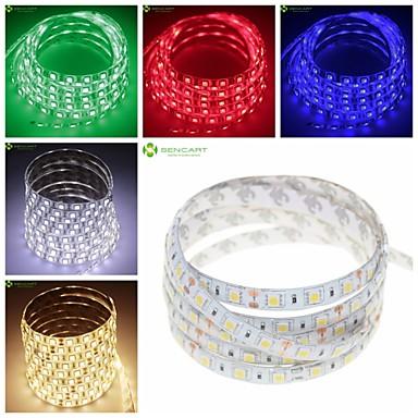 SENCART Faixas de Luzes LED Flexíveis 300 LEDs Branco Quente Branco Verde Amarelo Azul Vermelho Controlo Remoto Cortável Regulável