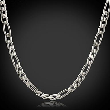 Kadın's Figaro Zinciri / Tıknaz Zincir Kolyeler - Paslanmaz Çelik, Titanyum Çelik Moda Gümüş Kolyeler Uyumluluk Yılbaşı Hediyeleri, Düğün, Parti