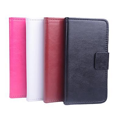 Voor Nokia hoesje Kaarthouder / met standaard / Flip hoesje Volledige behuizing hoesje Effen kleur Hard PU-leer NokiaNokia Lumia 950 /
