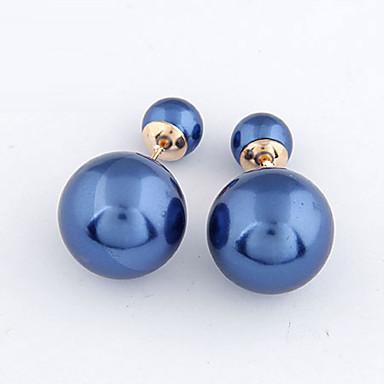Γυναικεία Απομίμηση Μαργαριτάρι Κουμπωτά Σκουλαρίκια / Σκουλαρίκια στυλ μπρος και πίσω - Μαργαριτάρι Βυσσινί, Μπλε, Ροζ