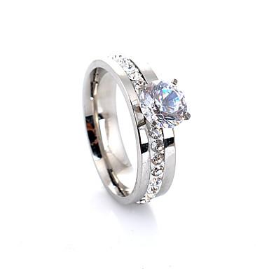 Dames Bandring Luxe Liefde Modieus Europees Synthetische Edelstenen Kristal Gesimuleerde diamant Legering Vier punten Kostuum juwelen