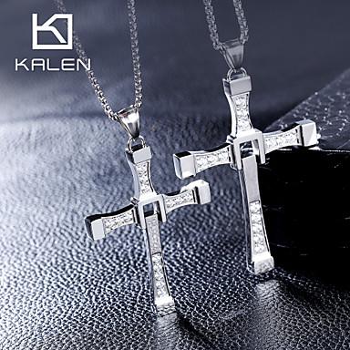 snel&woedende 7 Dominic Toretto kruis hanger RVS pandent ketting lovers 'kristallen ketting