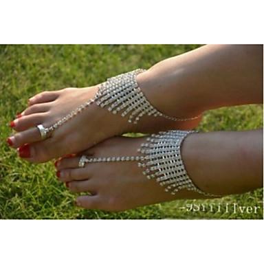 Dames Enkelring /Armbanden Kristal imitatie Diamond Uniek ontwerp Modieus Sieraden Zilver Vrouwen SieradenBruiloft Feest Dagelijks