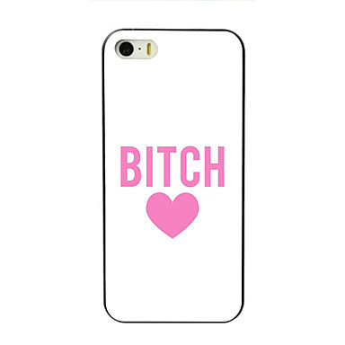 Voor iPhone 8 iPhone 8 Plus iPhone 7 iPhone 7 Plus iPhone 6 iPhone 6 Plus iPhone 5 hoesje Hoesje cover Patroon Achterkantje hoesje Woord