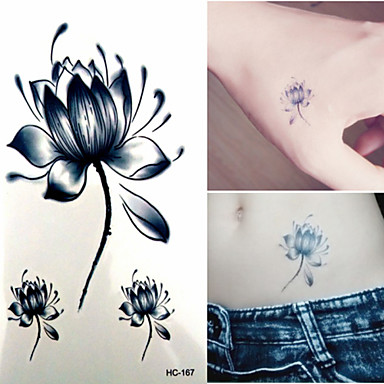 1 Non Toxic Χαμηλά στην Πλάτη Waterproof Σειρά Λουλουδιών Αυτοκόλλητα Τατουάζ