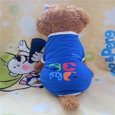 Cachorro Camiseta Roupas para Cães Geométrico Azul Lã Polar Ocasiões Especiais Para animais de estimação