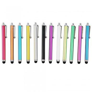 billige Dekor til mobiltelefon-kinston® 12 x universell suksess metall kapasitiv stylus berøringsskjerm penn klipp for iphone / ipad / samsung mobiltelefon tablett