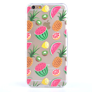 Fruit Pattern Transparent Scrub the Rear Case TPU Frame Combo Case for iPhone 6s 6 Plus