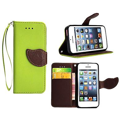 hoesje Voor Apple iPhone X iPhone 8 Plus iPhone 5 hoesje Kaarthouder Portemonnee met standaard Flip Volledig hoesje Effen Kleur Hard