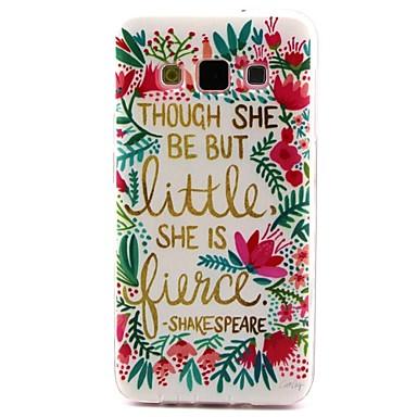 coco fun® kleine bloem patroon zacht TPU imd achterkant van de behuizing Cover voor Samsung Galaxy a3