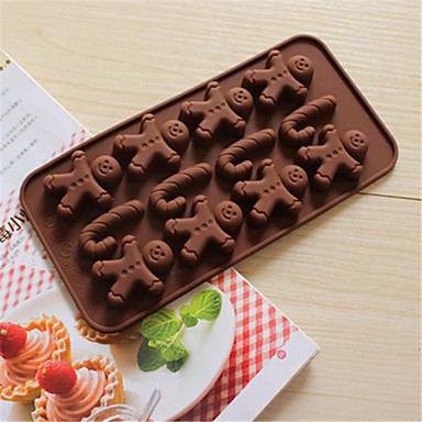 bakeware σιλικόνης μελόψωμο άνθρωπος και δεκανίκια ψήσιμο καλούπια για τη σοκολάτα cm-58