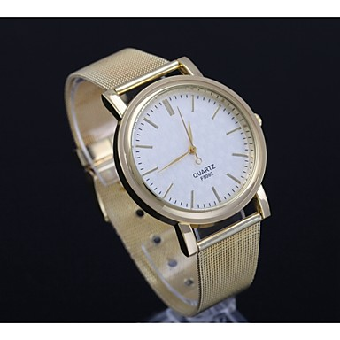 Relógio Casual Rosa Folheado a Ouro Aço Inoxidável Banda Ouro Rose