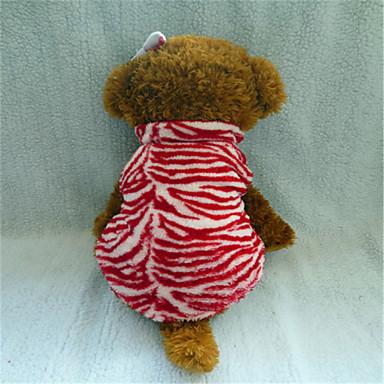 honden T-shirt Rood Winter Dieren Luipaard