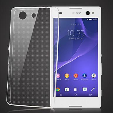 Capinha Para Sony Xperia Z3 Compact Sony Capinha Sony Transparente Capa traseira Côr Sólida Macia TPU para Sony Xperia Z3 Compact Sony