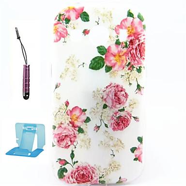 Capinha Para Samsung Galaxy Samsung Galaxy Capinhas Estampada Capa Traseira Flor TPU para Ace 4