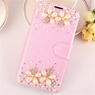 Capinha Para Apple iPhone 6 iPhone 6 Plus Com Strass Com Suporte Flip Capa Proteção Completa Glitter Brilhante Rígida PU Leather para