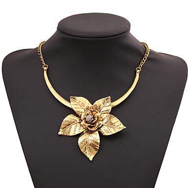 billige Mode Halskæde-Dame Kvadratisk Zirconium Origami Artisan Erklæring Halskæder Kvadratisk Zirconium Lotus Guld Sølv Halskæder Smykker Til Fest