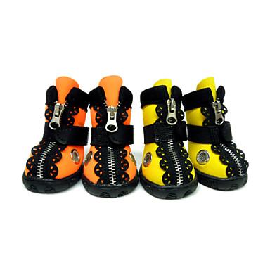 Hond Schoenen & Laarzen Waterdicht Effen Oranje Geel Voor huisdieren