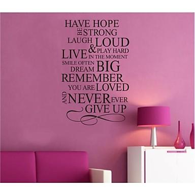 έχουν ελπίδα εμπνευσμένη απόσπασμα τοίχο αυτοκόλλητο zooyoo8033 διακοσμητικά DIY αυτοκόλλητο τοίχου αφαιρούμενα βινυλίου
