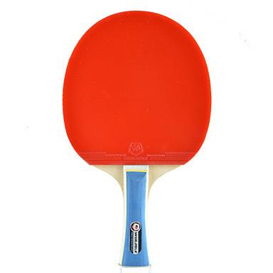 2 Estrelas Raquetes de tênis Ping Pang Borracha Cabo Comprido