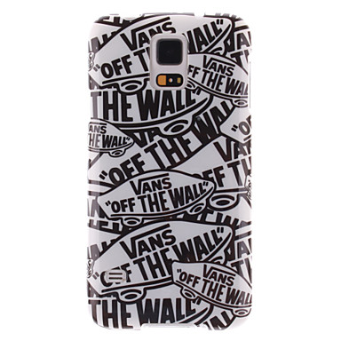 padrão spider®scrawl magia no molde decoração e TPU caso de volta com protetor de tela para o i9600 Samsung Galaxy S5