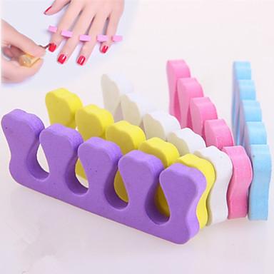 2pcs peach heart cotton toe separators nail art tool