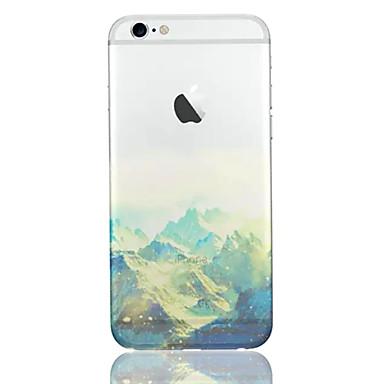 Para Capinha iPhone 6 / Capinha iPhone 6 Plus Ultra-Fina / Translúcido / Estampada Capinha Capa Traseira Capinha Cenário Macia TPUiPhone