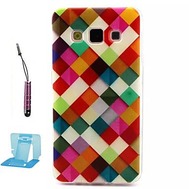 hoesje Voor Samsung Galaxy Samsung Galaxy hoesje Patroon Achterkantje Geometrisch patroon TPU voor A3