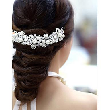 Kristal Acryl Stof tiaras Kukat 1 Bruiloft Speciale gelegenheden  Feest / Uitgaan Helm
