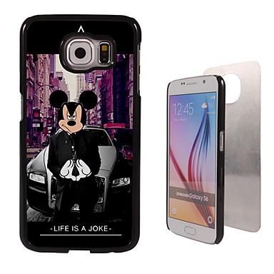 Voor Samsung Galaxy hoesje Hoesje cover Patroon Achterkantje hoesje Cartoon PC voor Samsung Galaxy S6