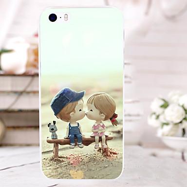 Para Capinha iPhone 5 Com Relevo Capinha Capa Traseira Capinha Desenho Rígida PC para iPhone SE/5s iPhone 5