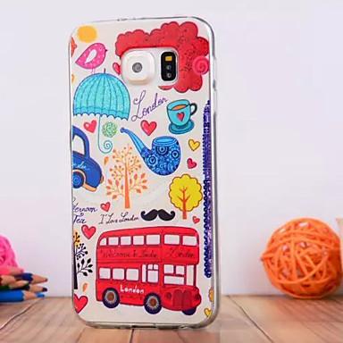 Para Samsung Galaxy Capinhas Case Tampa Com Relevo Capa Traseira Capinha Desenho Animado PUT para Samsung S6