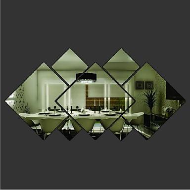 Formas Adesivos de Parede Autocolantes de Parede Espelho Autocolantes de Parede Decorativos Material Removível Decoração para casa