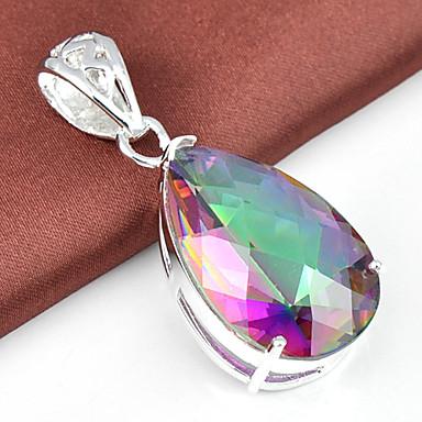 Ανδρικά Γυναικεία Μενταγιόν Geometric Shape Κρύσταλλο Επάργυρο Κοσμήματα Για Γάμου Πάρτι Καθημερινά Causal Αθλητικά