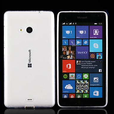 tok Για Nokia Nokia Lumia 830 Θήκη Nokia Εξαιρετικά λεπτή Διαφανής Πίσω Κάλυμμα Συμπαγές Χρώμα Μαλακή TPU για Nokia Lumia 535